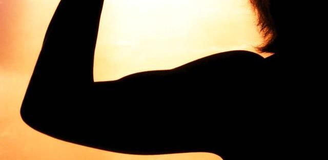 flexed bicep silhouette