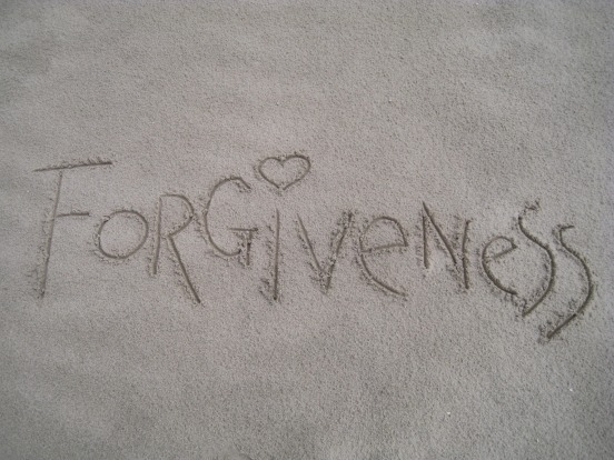 forgiveness drawn in sand