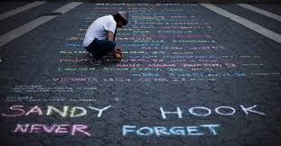 Sandy Hook elementary never forget sidewalk