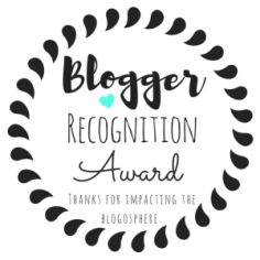 Blogger Recognition Award badge