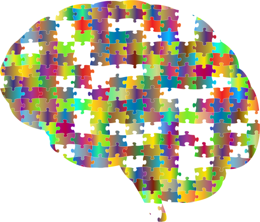 brain depicted as puzzle pieces