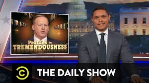 screen shot - the Daily Show with Trevor Noah
