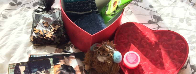 self-care box with items laid out