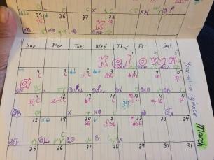 my journal - monthly calendar