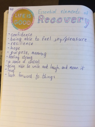 journal excerpt: recovery