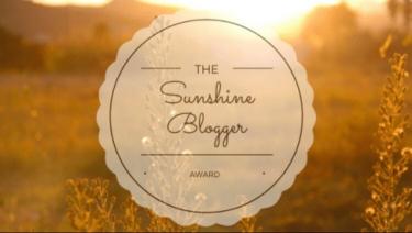 Sunshine Blogger award badge