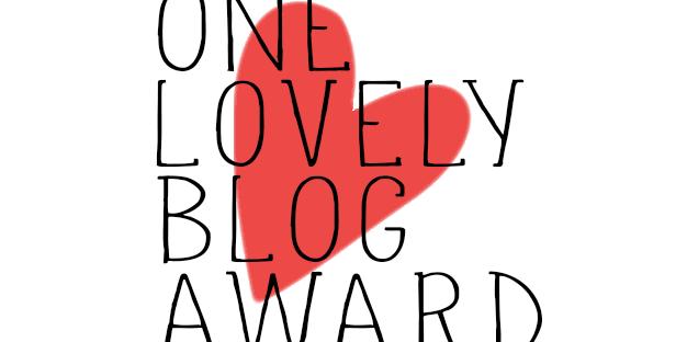 One Lovely Blog award badge