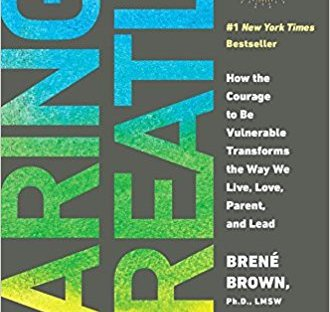 book cover: Daring Greatly by Brene Brown