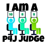 I am a P4J judge badge
