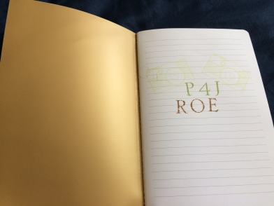 journal with P4J ROE stamp