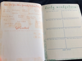 Daily mindfulness journal inside page
