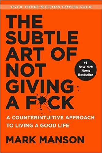book cover: The subtle art of not giving a f*ck