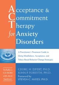 ACT for anxiety disorders by Eifert and Forsyth book cover
