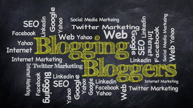 blogging word graphic