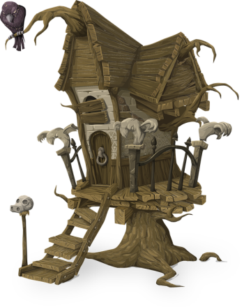 creepy treehouse