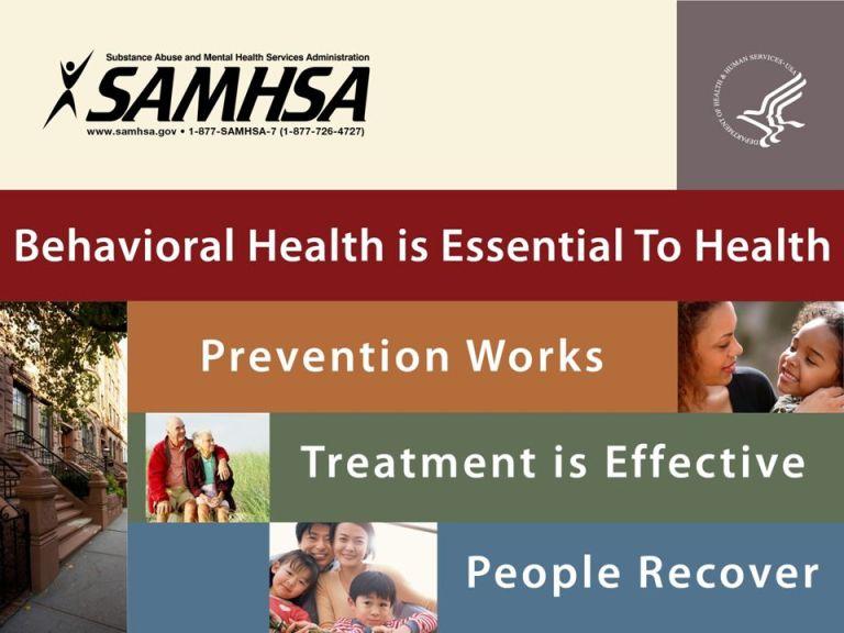 SAMHSA: Behavioral health is essential to health