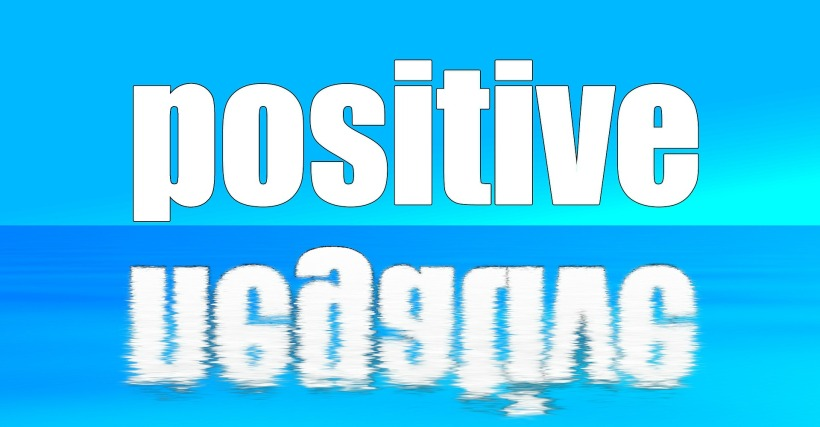 the words positive and negative