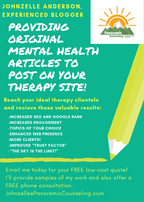 Johnzelle Anderson mental health article promotion