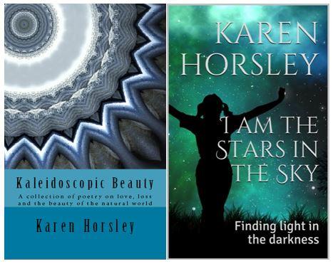 book covers for Kaleidoscopic Beauty and I Am the Stars in the Sky by Karen Horsley