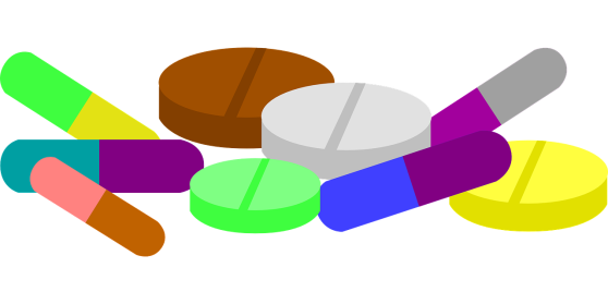 multicolored tablets and capsules