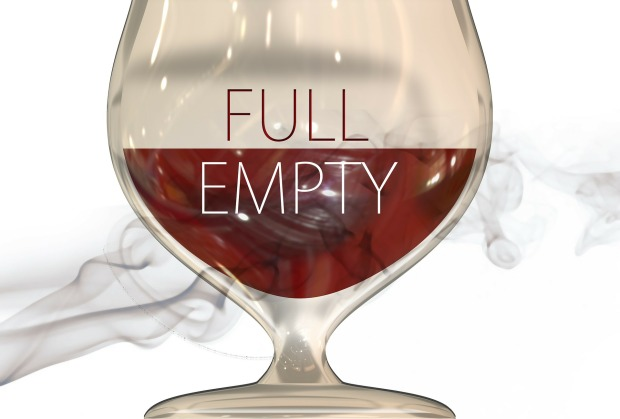 glass that's half full/half empty