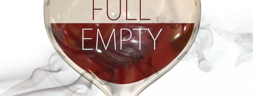 glass that's half full/half empty