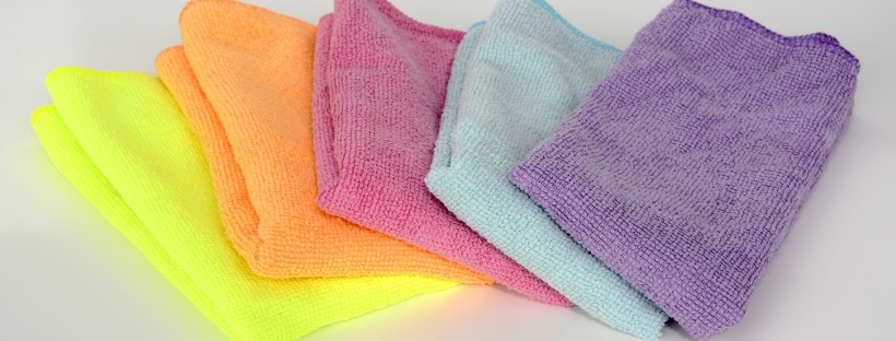 multicoloured microfibre cleaning cloths