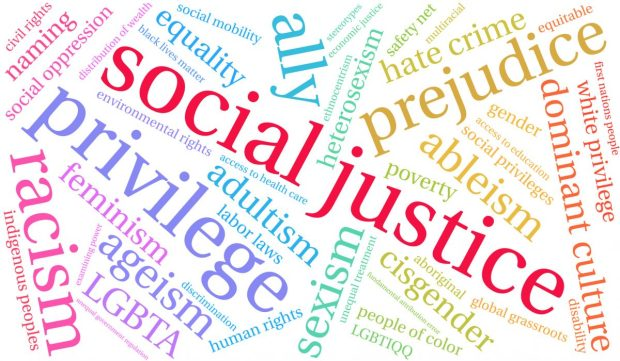 social justice word graphic