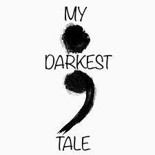 illustration of a semicolon with the words my