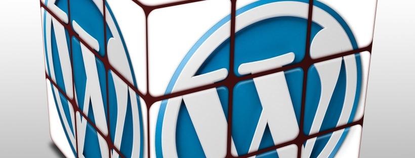 Wordpress logo on a rubik's cube